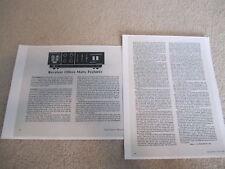Nikko Sta-1101 Receiver Review, 3 pgs, 1971, Full Test