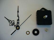 CLOCK MOVEMENT QUARTZ . LONG SPINDLE. 89mm BLACK HANDS