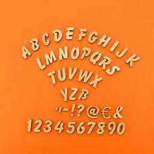 Buchstaben Zahlen aus Holz Kinderzimmer Basteln Türschild 21mm