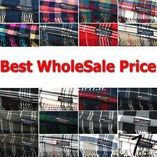 Wholesale Lot Women Men Winter Warm 100% Cashmere Scotland Plaid Scarf Wrap Soft