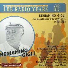 CD BENIAMINO GIGLI - the radio anni, his non pubblicato BBC concerts 1949 - 1952