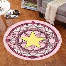 Anime Card Captor Sakura Magic Circle Round Rug Door Room Carpet Floor Mat Gift
