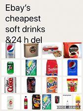 CRATES OF 24 330ml CANS OF SOFT DRINKS COCA COLA PEPSI FANTA TANGO 7UP DIET ZERO