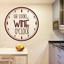 To Wine OClock Comedy Zegar ścienny Zacytować Naklejki ścienne Dekorowanie