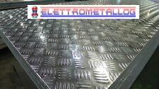 Lamiera mandorlata in alluminio 6082 spessore 3 mm varie dimensioni.