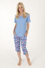 Normann halb langer Schlafanzug Pyjama Damen blau 36 38 44 46 56 58 60 62