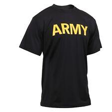 US Army APFU Lightweight Short Sportshirt Kurzarm tshirt PT Sport Shirt black