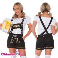 Ladies Oktoberfest Costume Beer Maid Wench German Lederhosen Dirdnl Fancy Dress