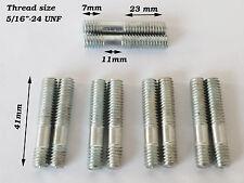 """5/16"""" -24 UNF Rosca Colector clavos, cinc plateado de entrada de escape de 41 mm de largo 23-11-7"""
