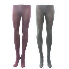 Ladies Women 100 Denier Opaque Cotton Rich Soft Warm Touch Tights (Size Small)