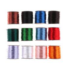 75Meter 1mm Chinese Knot Satin Nylon Braided Cord Macrame Beading Rattail Cord``
