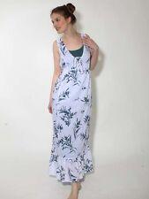 -30% Maxikleid Hippie Kleid Simclan Gr. 36 40 44 Baumwolle weiß petrol neu