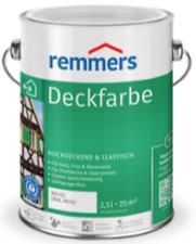 Remmers Deckfarbe 5 Liter - Aidol Wetterschutzfarbe Holzfarbe - Innen + Außen