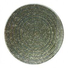 10cm Candle Plate - Gold Glitter - Silver Mirror Gem - Glass - Coaster