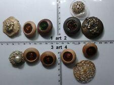1 lotto bottoni gioiello strass smalti perle legno buttons boutons vintage g9