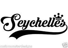 Seychelles... Seychelles Vinyl Wall Art Quote Decor Words Decals Sticker