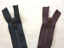 "Zip, Zipper 20""/51cm, Dress CE, Nylon YKK, Purple, Navy,"