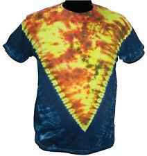 T-SHIRT MAGLIETTA Fire Inside Tie Dye fuoco Hippie Hippy Moda tinta a mano