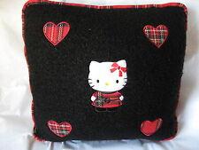 Sanrio Hello Kitty Pillow Woolly Cushion Black Vintage Collectible '76, '02 NEW