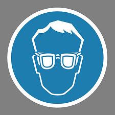 Augenschutz benutzen  Aufkleber Sticker Schild Hinweis Verbotsschild