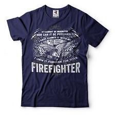 Firefighter T-shirt American Firefighter US Fire Fighter Tee Shirt