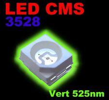 129B# LED CMS 3528 vert au choix de 10 à 100pcs, green SMD LED 3528