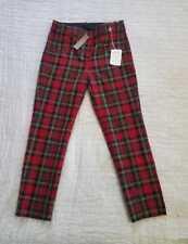 NEW WOMEN'S J CREW CAMERON SLIM CROP PANTS IN TARTAN TWO WAY STRETCH WOOL PLAID