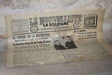 Ancien journal - Le Nouvelliste - La Sologne libre - N°541 Mars 1955