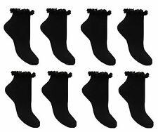 6 Pares De Mujeres De Encaje Con Volantes Top Algodón Entrenador Tobillo Tobillera Damas Calcetines 4-7 Reino Unido