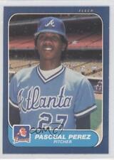 1986 Fleer #524 Pascual Perez Atlanta Braves Baseball Card