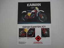 advertising Pubblicità 1979 MOTO CIMATTI KAIMAN 50 6M X21