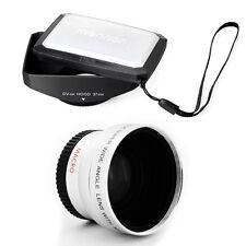 37mm 16:9 Hood,Wide Angle Lens for Canon DC40,DC50,HR10,HV10,HG20,HG21 camcorder