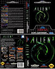 Alien 3 Sega Mega Drive PAL NTSC  Replacement Box Art Sleeves Insert Case Cover