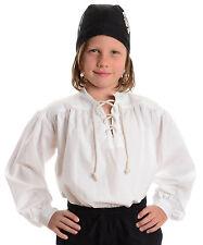 Kinder Piratenhemd Schnürhemd weiß Baumwolle Kinderhemd Piratenkostüm Karneval