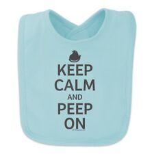 Keep Calm and Peep On Baby Bib