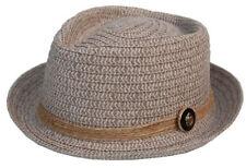 Cool 4 Pork pie chapeau de paille sable été paille Chapeau porkpie naturbast soleil pp01