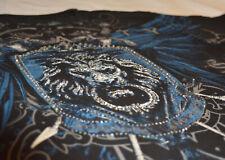 XZAVIER [royalty rhinestones] pedrería t-shirt motero Harley rocker Gothic tribal s