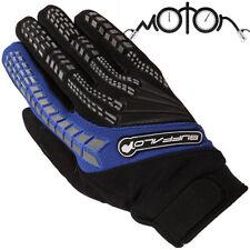 Buffalo enfoque Motocicleta Moto Guantes Touring Estilo MX Azul