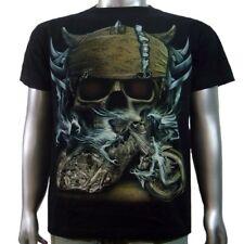 Viking Helmet Skull Custom OCC Motorbike Chopper Biker Tattoo Mens T-shirt M & L