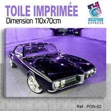 110x70cm - TOILE IMPRIMÉE TABLEAU- VOITURE PONTIAC FIREBIRD CAR - PON-02