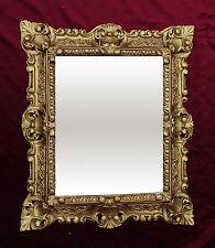 Espejo de pared Dorado Repro 45x38 spiegelantik Barroco Réplica rectangular 345