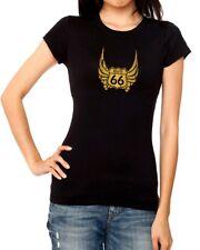 Camiseta chica mujer motero RUTA 66 ROUTE 66 t shirt women girl biker