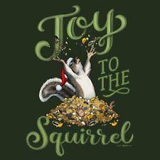 Joy To The Squirrel T shirt S M L XL 2XL Long Short Sleeve Christmas NWT Gildan