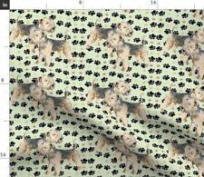 Lakeland Terriers Dog Pets Paw Prints Fabric Printed by Spoonflower Bty