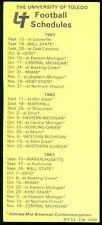 1978 UNIVERSTIY OF TOLEDO FOOTBALL POCKET SCHEDULE FREE SHIPPING