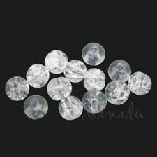 45 Kaden de vidrio esmerilado perlas 4 mm rosa con AB Y7-15