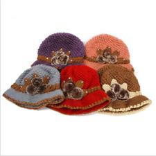Women Girls Slouch Baggy Beanie Hat Winter Warm Soft Knit Wool Crochet Beret Ski