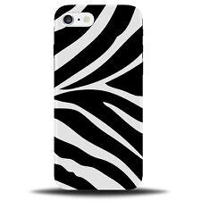 Zebra Print Phone Case Cover | Skin Stripes Pattern Black and White & B534