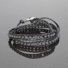Lederarmband-Wrap mit Perlen  41cm lang Wickelarmband ,verstellbar,Farbe wählbar
