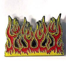FLAMES HAT PIN 351 new biker lapel badge tac fire flame novelty metal hatpin new